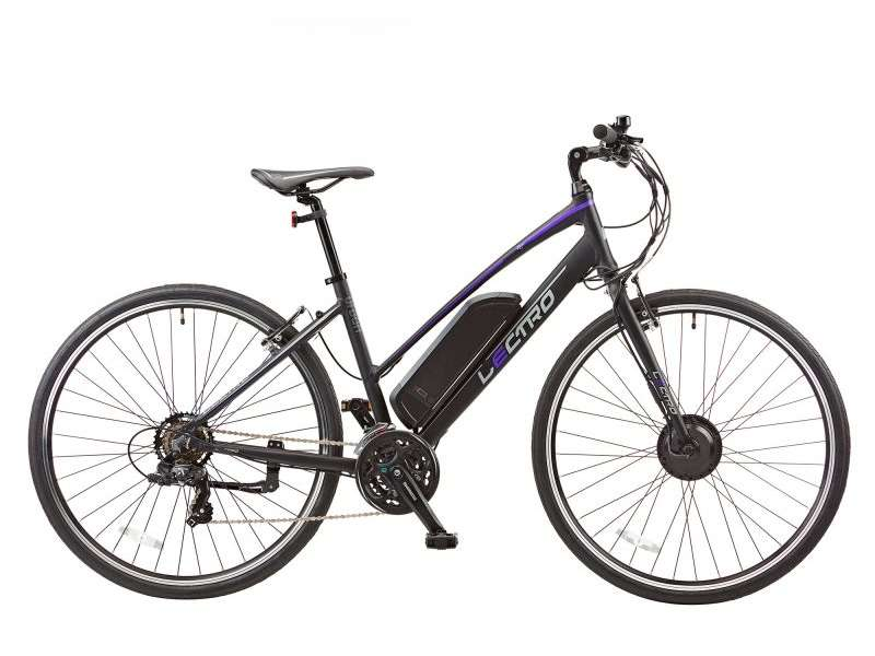 17″ URBAN RACE, 21 SPEED, 36V E-BIKE, 700C WHEEL, LADIES, BLACK