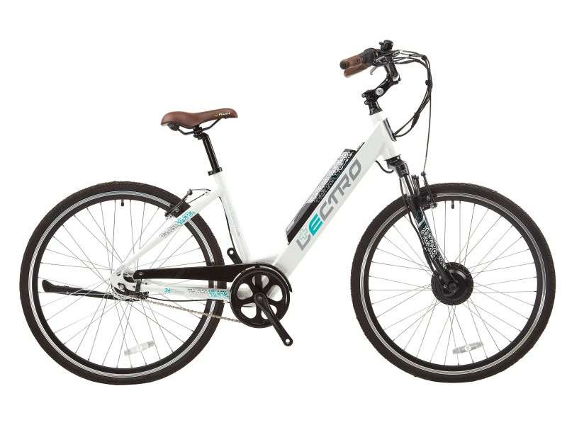 17″ URBAN CITY, 7 SPEED, 36V E-BIKE, 700C WHEEL, LADIES, WHITE