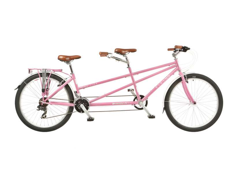 17/15″ VIKING PINK LINK, 26″ WHEEL 21 SPEED TANDEM BIKE (VN266)