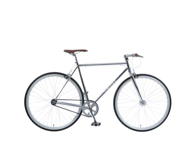 59CM VIKING URBAN MYTH, FIXED/ SINGLE SPEED, 700C WHEEL GENTS, CHROME (VN366)