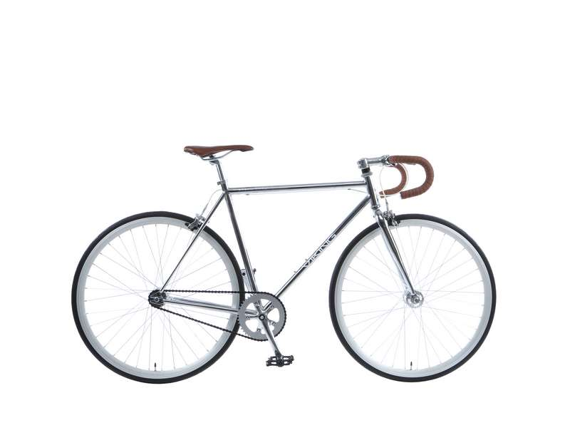 59CM VIKING URBAN MYTH, FIXED/ SINGLE SPEED, 700C WHEEL GENTS, CHROME (VN369)