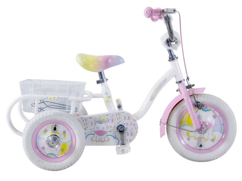 CONCEPT UNICORN GIRLS SINGLE SPEED TRIKE, 12″ WHEEL (CN168)