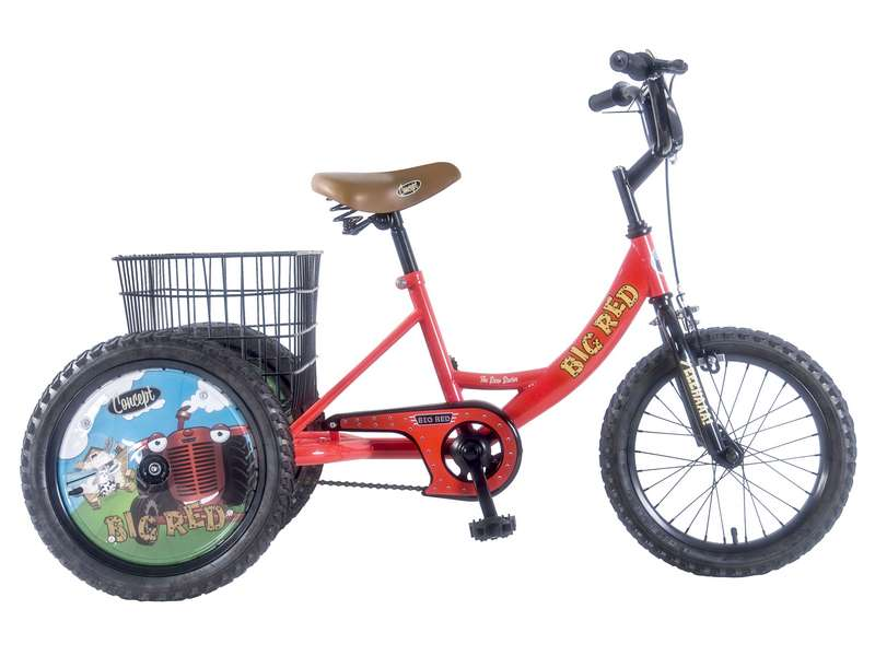 CONCEPT BIG RED SINGLE SPEED TRIKE, 16″ WHEEL (CN170)
