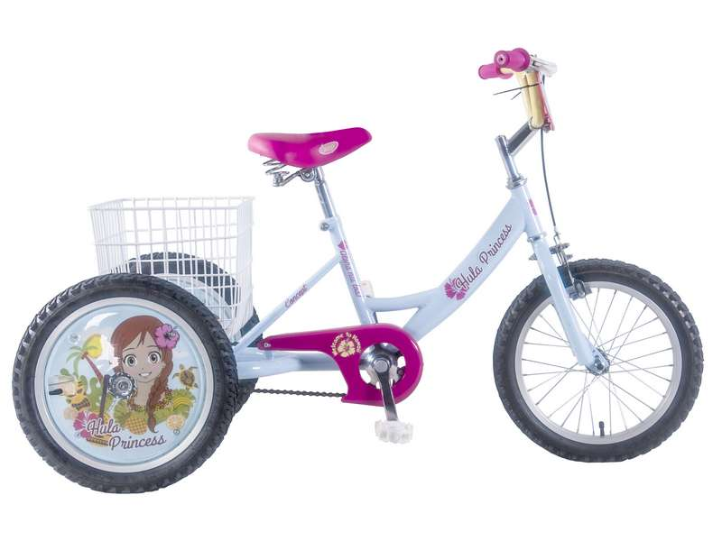 CONCEPT HULA PRINCESS GIRLS SINGLE SPEED TRIKE, 16″ WHEEL (CN171)