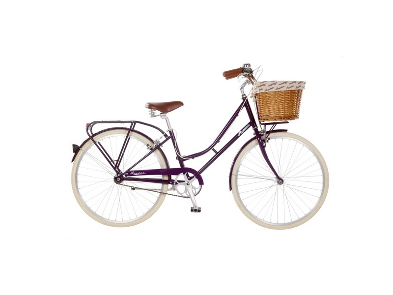 19″ Ryedale Harper, 26″ Wheel Ladies Heritage Bike, Blackcurrant (RYD13)