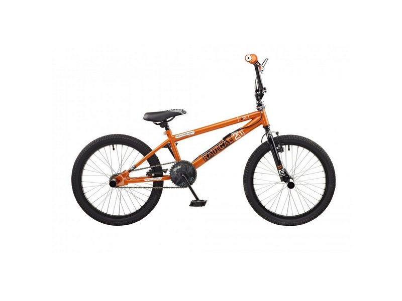Rooster Radical Single Speed BMX, 20″ Wheel, Orange/Black (RS115)