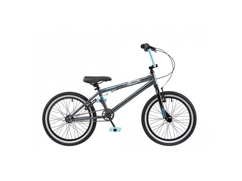 Rooster Jammin Single Speed BMX, 18″ Wheel, Grey/Black (RS129)