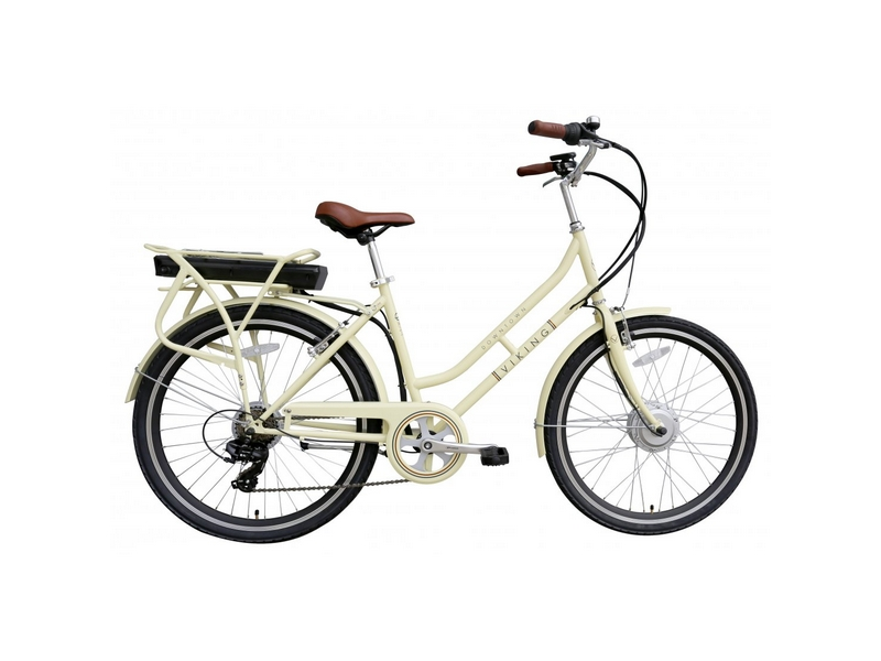 Viking Downtown 36 Cream, 26″ 6 Speed E-Bike (VK79)