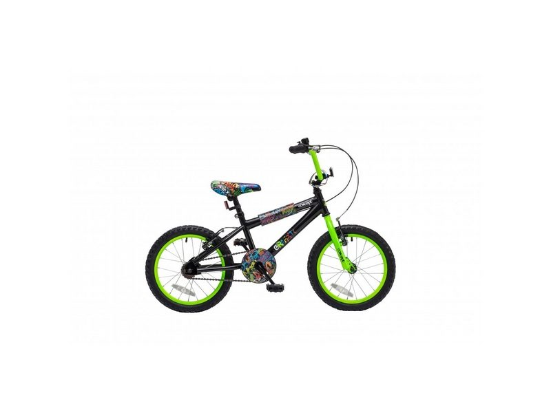 Concept Graffiti Boys Single Speed, 16″ Wheel, Black (CN123)
