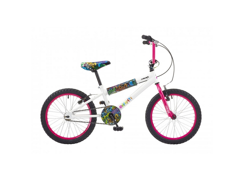 Concept Graffiti Girls Single Speed, 16″ Wheel, White (CN125)