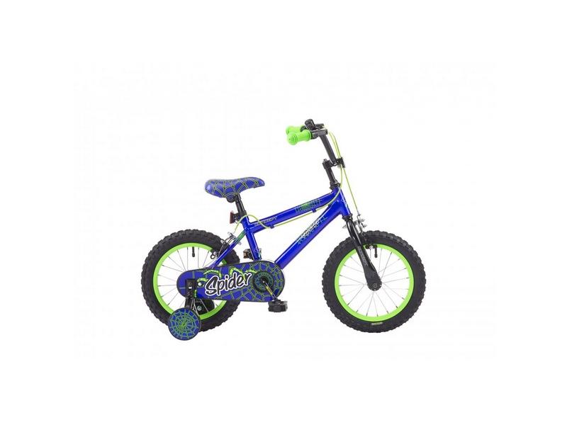 Concept Spider Boys Single Speed, 14″ Wheel, Blue/Green (CN114)