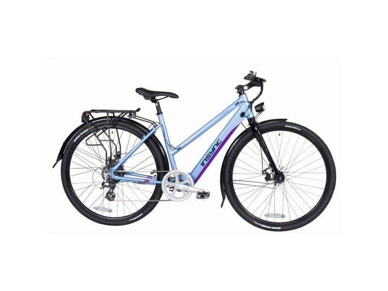 Insync Townmaster Large Ladies 36V 250W Aluminium Electric Bike Blue (INS006)