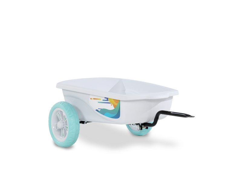 EXIT Foxy Club Pedal Go-kart Trailer – White