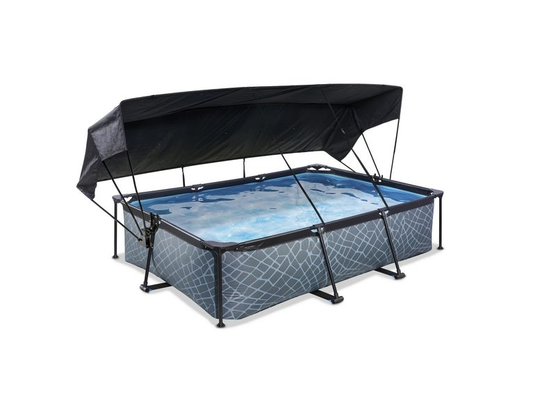 EXIT Stone Pool 300x200x65cm With Canopy And Filter Pump