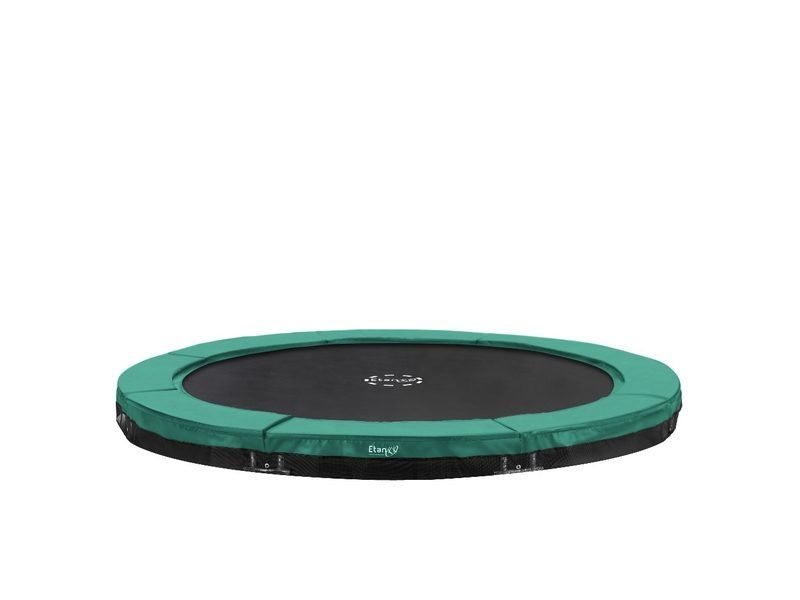 Etan Premium Gold 11ft In-ground Trampoline – Green