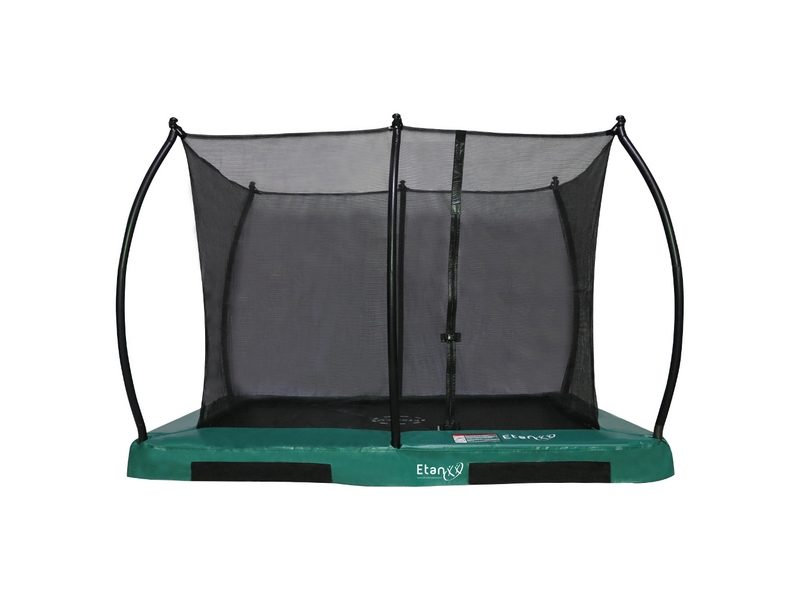 Etan Hi-Flyer 1075 In-ground Trampoline With Enclosure Rectangular- Green