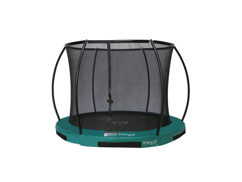 Etan Hi-Flyer 10ft In-ground Trampoline With Enclosure – Green