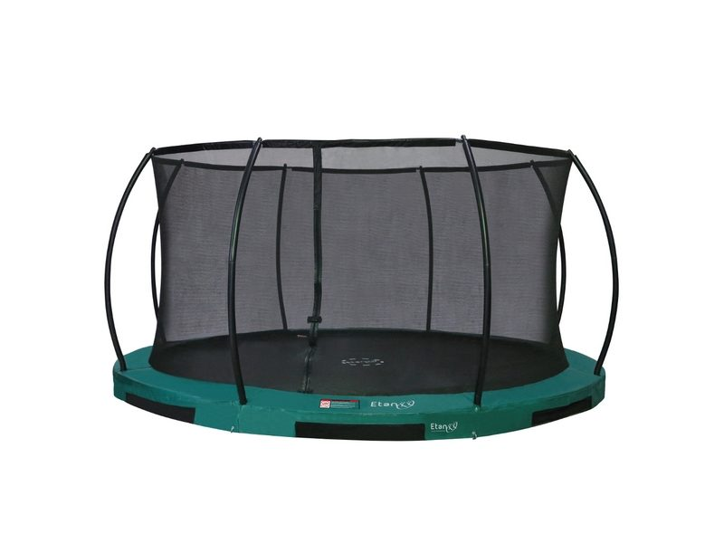 Etan Hi-Flyer 12ft In-ground Trampoline With Enclosure – Green