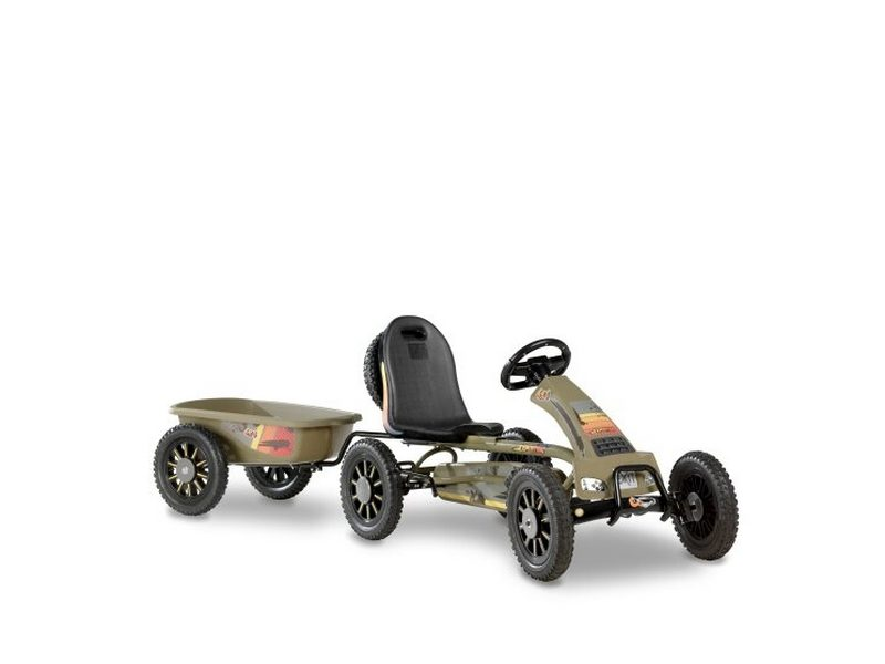 EXIT Spider Expedition Pedal Go-kart With Trailer – Dark Green