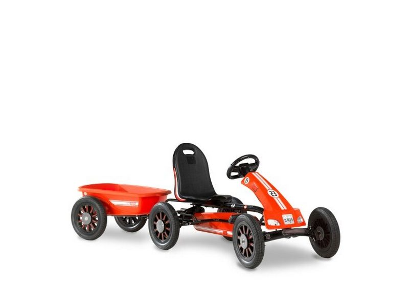 EXIT Spider Race Pedal Go-kart With Trailer – Red
