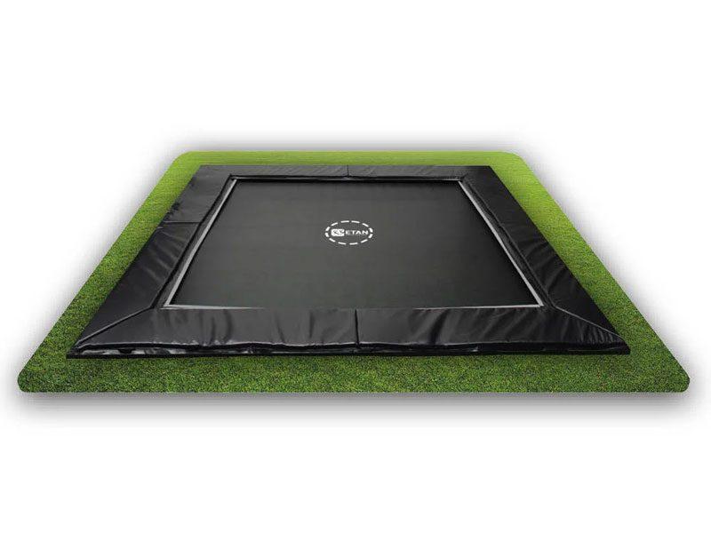 Etan UltraFlat Trampoline Square 294 X 294 Cm Black